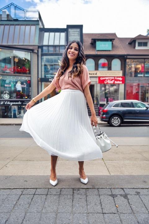 3 ways to style white skirt tulle white skirt uniqlo skirt zara white heels toronto blogger faiza inam sincerely humble 5