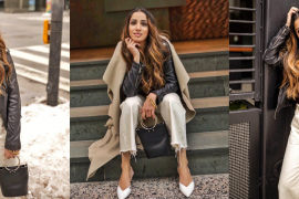 Leather jacket toronto weather cold faiza inam sincerely humble fashion blog ootd street style 5