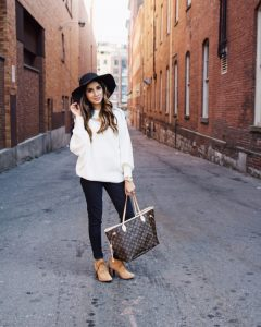 cozy sweater shein sincerely humble faiza inam nordstrom boots louis vuitton fall hats