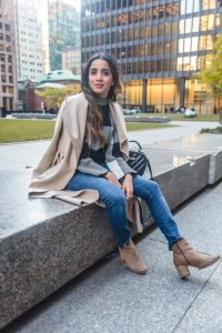 Comfy checkered top and coat boohoo coat shein sweater boots fall look fall inspired