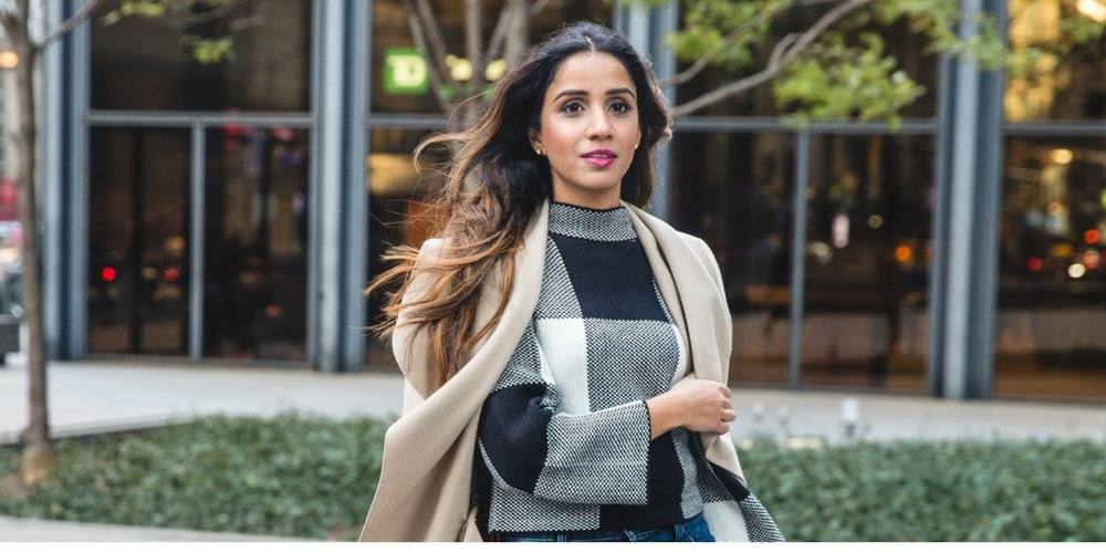 Comfy checkered top and coat boohoo coat shein sweater boots fall look fall inspired details