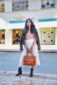 3 ways to style white skirt tulle white skirt uniqlo skirt zara white heels toronto blogger faiza inam sincerely humble leather jacket fall boots