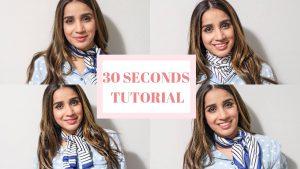 30 SECONDSTUTORIAL tie silf scarf fashion inspo how to how to tie scarf around neck medium sized scarf