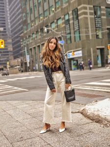 Leather jacket toronto weather cold faiza inam sincerely humble fashion blog ootd street style 1
