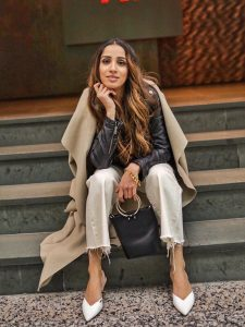Leather jacket toronto weather cold faiza inam sincerely humble fashion blog ootd street style 2