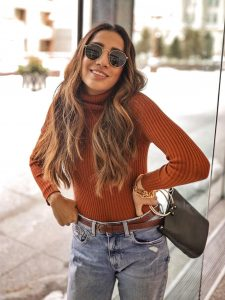 Street style boyfriend jeans Toronto fashion week ootd hm jeans asos boots faiza inam sincerely humble 6