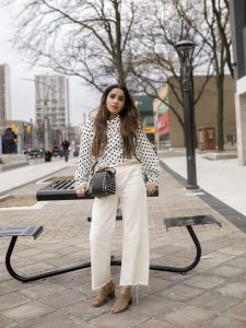 How to Style Polka Dots toronto fashion Faiza Inam vogue fad sincerelyhumble sincerely humble 1