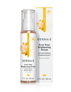 How to treat uneven skin tones hyperpigmentation Derme E Brightening Serum Vitamin C