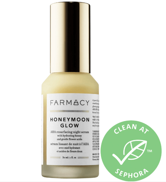 How to treat uneven skin tones hyperpigmentation Farmacy AHA Resurfacing Night Serum (Chemical Exfoliator)