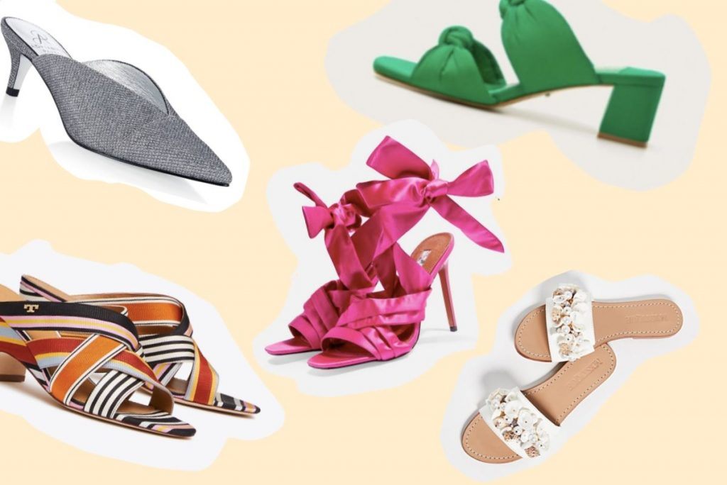 Shoes are taking over this spring 2019 mules pop of color fuschia seashells shoes faiza inam