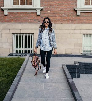 Must Have Blazers to Survive any Important Day Sincerely Humble Faiza Inam OOTD Fashion style icon Shein Blazer Converse shoes pregnancy style combining blazers runners the tweeded blazer 1