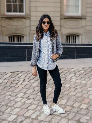 Must Have Blazers to Survive any Important Day Sincerely Humble Faiza Inam OOTD Fashion style icon Shein Blazer Converse shoes pregnancy style combining blazers runners the tweeded blazer