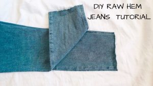 DIY RAW HEM JEANS TUTORIAL 1 Frayed how to fashion style blogger 1