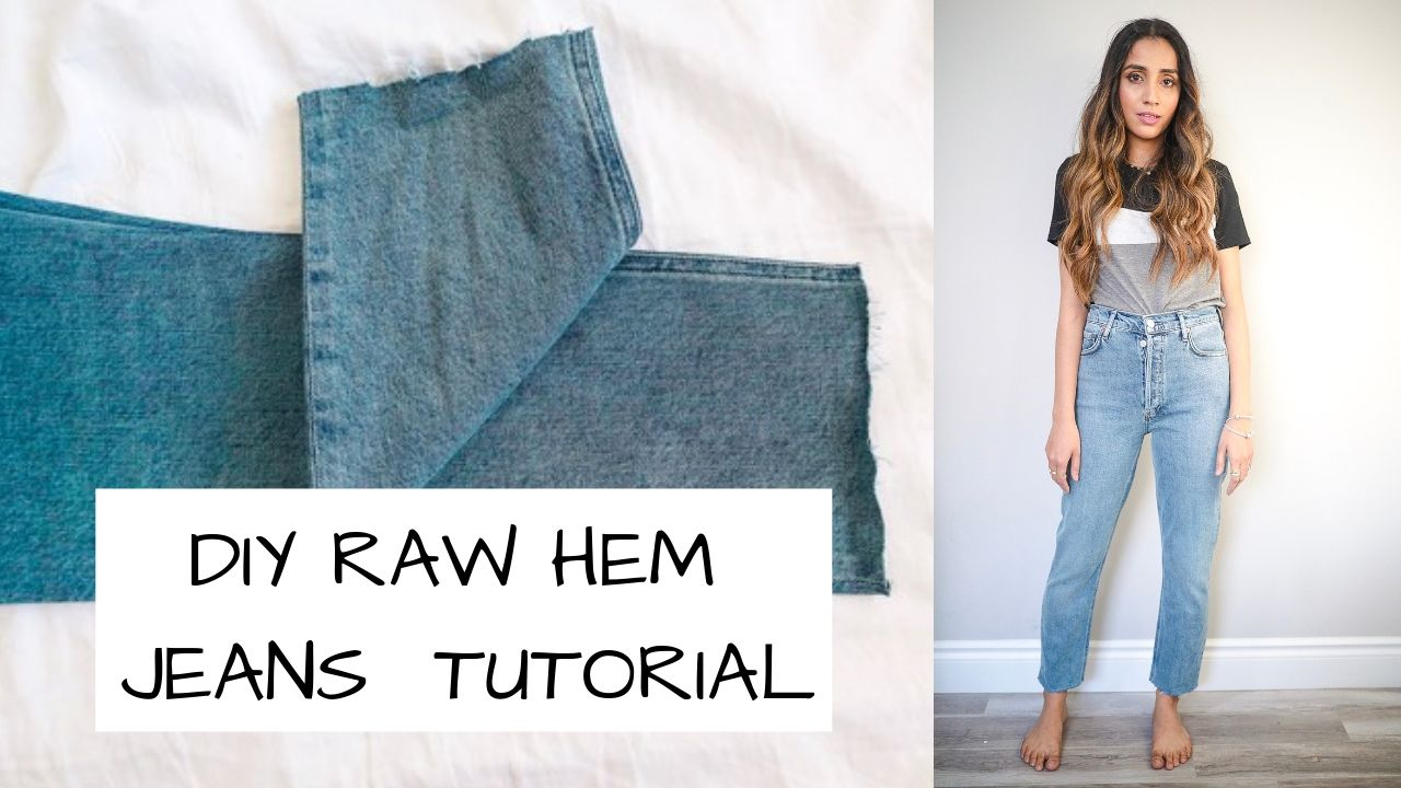 DIY RAW HEM JEANS TUTORIAL 1 Frayed how to fashion style blogger 4