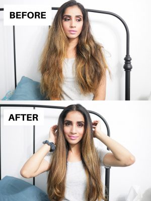 HOW TO Blow Dry Curly Frizzy Hair to Get Straight Hair sincerely humble sincerelyhumble blog Faiza Inam 3