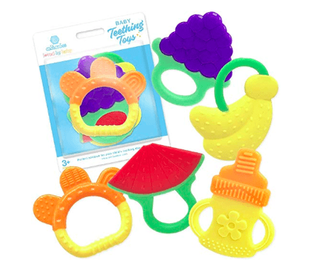 Must Have Amazon Products for Babies During Travel Silicone Baby Teething Toys 5 Pack
