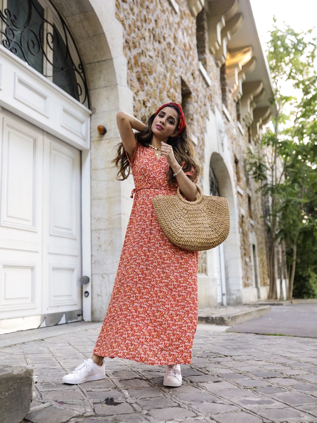 Summer Dress 2019 Roundups Part 1 Faiza Inam Sincerelyhumble maxi dresses Bouquet crossover dress Maison Simons 2