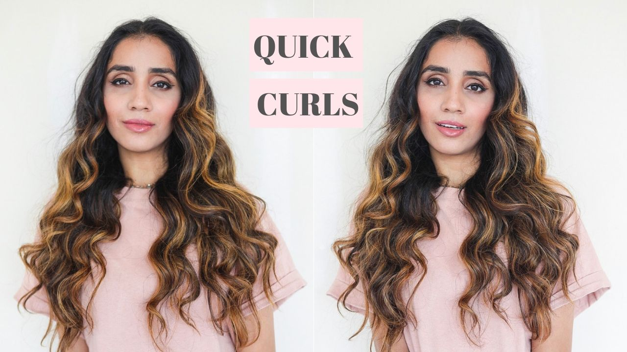 5 Minute Curls that Lasts for Days Faiza Inam How to Eid Hair Party Hair Long Hair Ideas t3 Micro 11