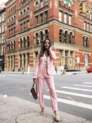 NYFW SS20 Outfits Roundup New York Fashion Week Faiza Inam SincerelyHumble Blog Zara Blazer Suit 1