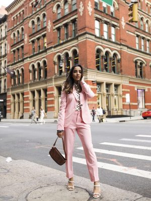 NYFW SS20 Outfits Roundup New York Fashion Week Faiza Inam SincerelyHumble Blog Zara Blazer Suit 2