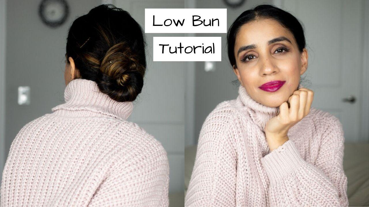 Easy 2 Minute Low Bun Tutorial 1