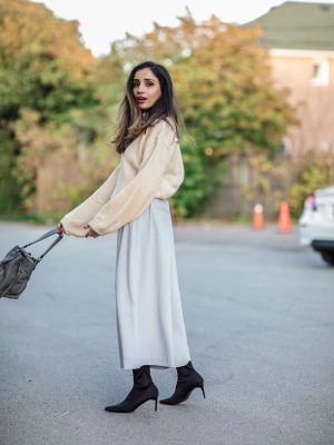 Fall Pieces To Make You Look Expensive Faiza Inam SincerelyHumble Blog Sincerely Humble Fall style fashion elegant fashion forward sock boots sweater 3