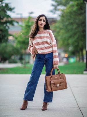 My Top 5 Fall Staples 2019 Faiza Inam SincerelyHumble Blog Ankle Boots Trend Fab Affordable Lulus Cozy Sweater 3