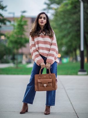 My Top 5 Fall Staples 2019 Faiza Inam SincerelyHumble Blog Ankle Boots Trend Fab Affordable Lulus Cozy Sweater 4