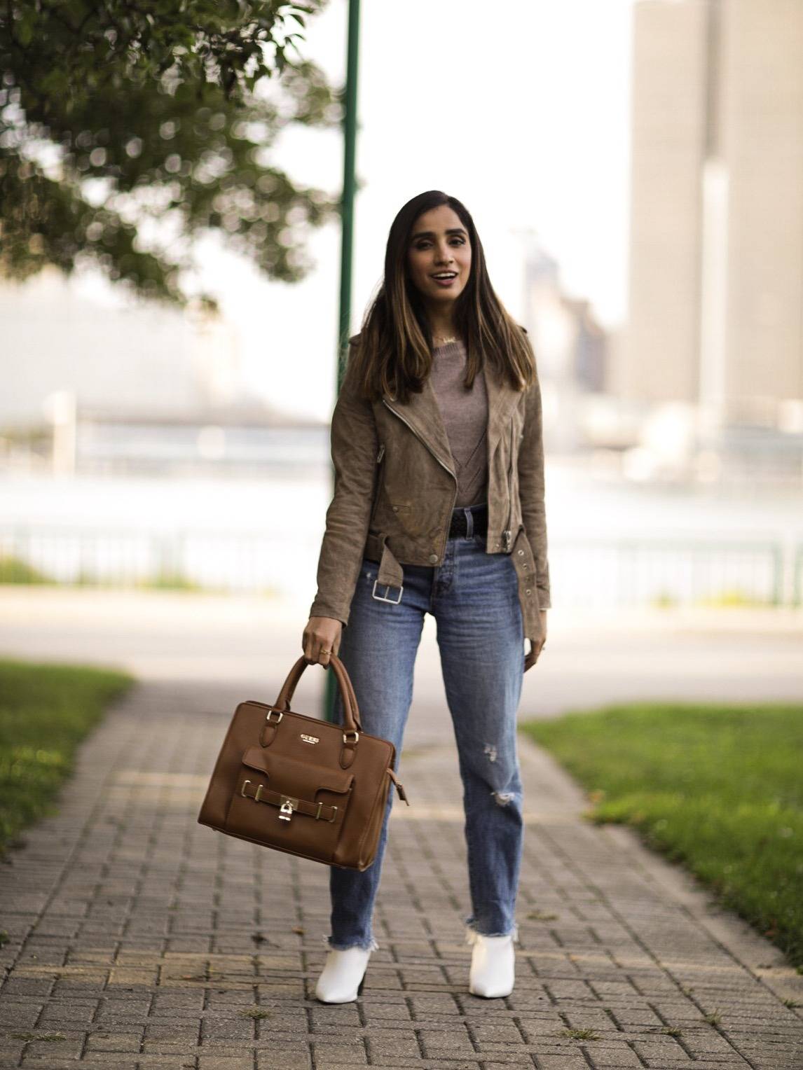 My Top 5 Fall Staples 2019 Faiza Inam SincerelyHumble Blog Ankle Boots Trend Fab Affordable Lulus Moto Jacket 2