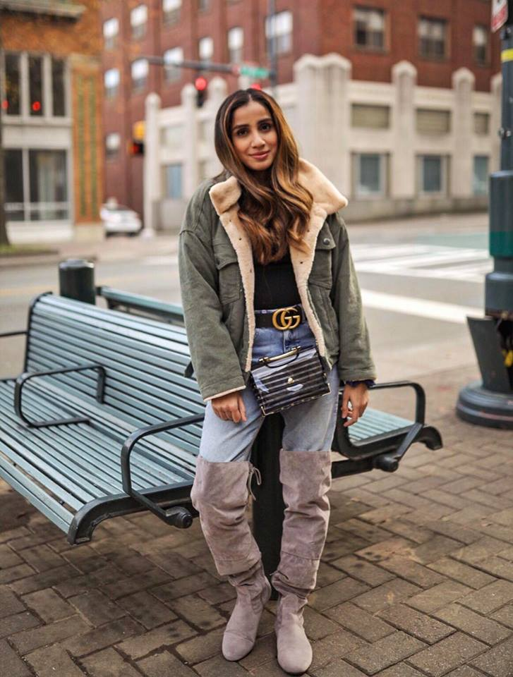 How to Style Sweater to Look More this Season Skirt Coats Boots Long Ankle Sneakers Faiza Inam Sincerelyhumble Blog 2