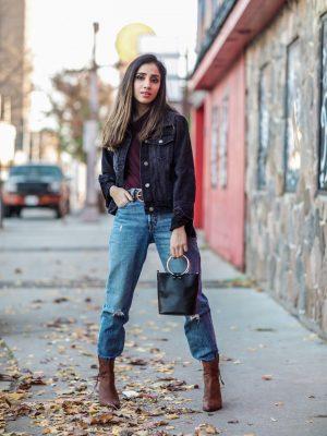 My Jean on Jean Love Lulus Ambassador Faiza Inam Fall Look 2019 Fashion Forward fashionable clothes trending 1