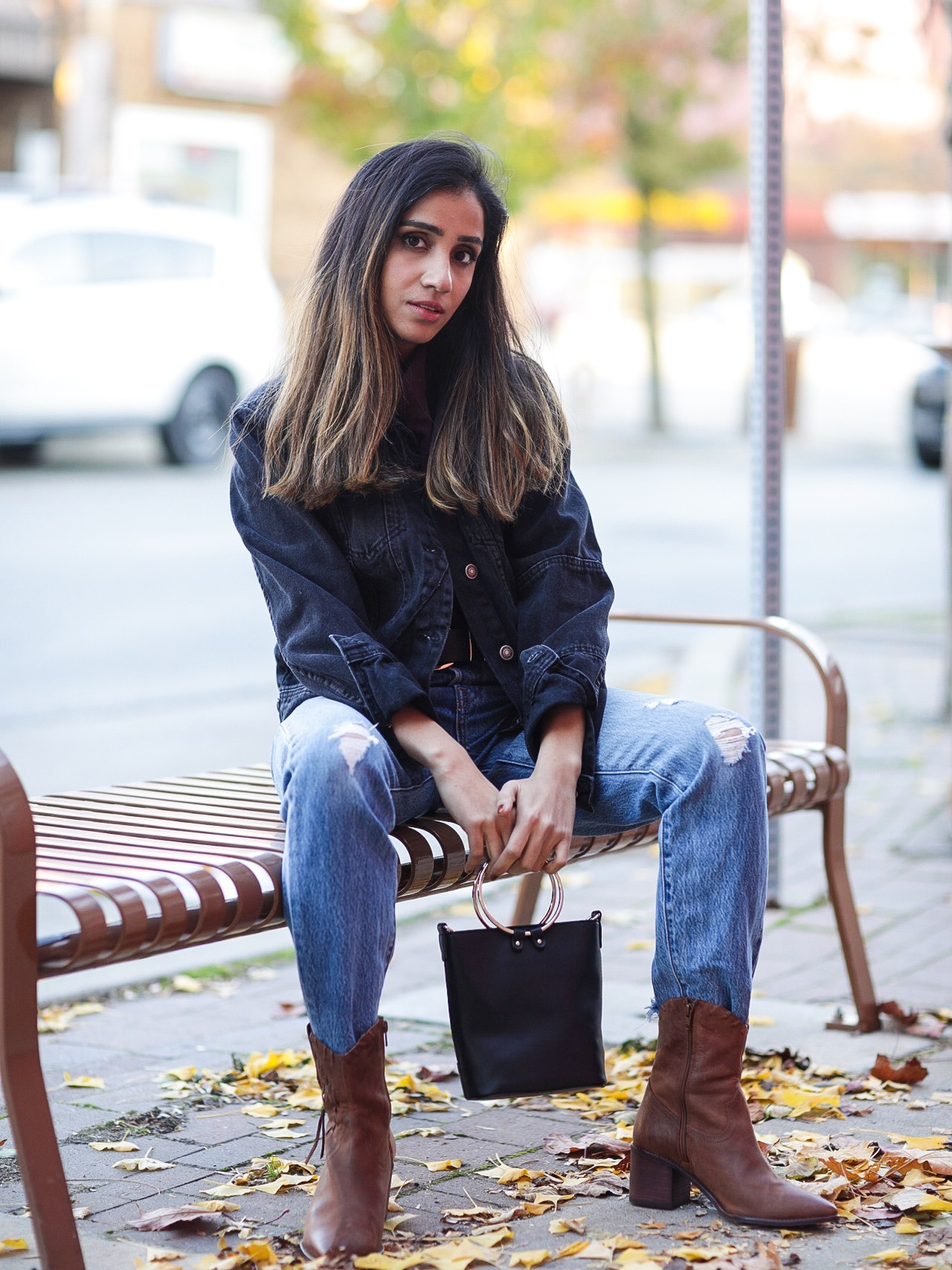 My Jean on Jean Love Lulus Ambassador Faiza Inam Fall Look 2019 Fashion Forward fashionable clothes trending 4