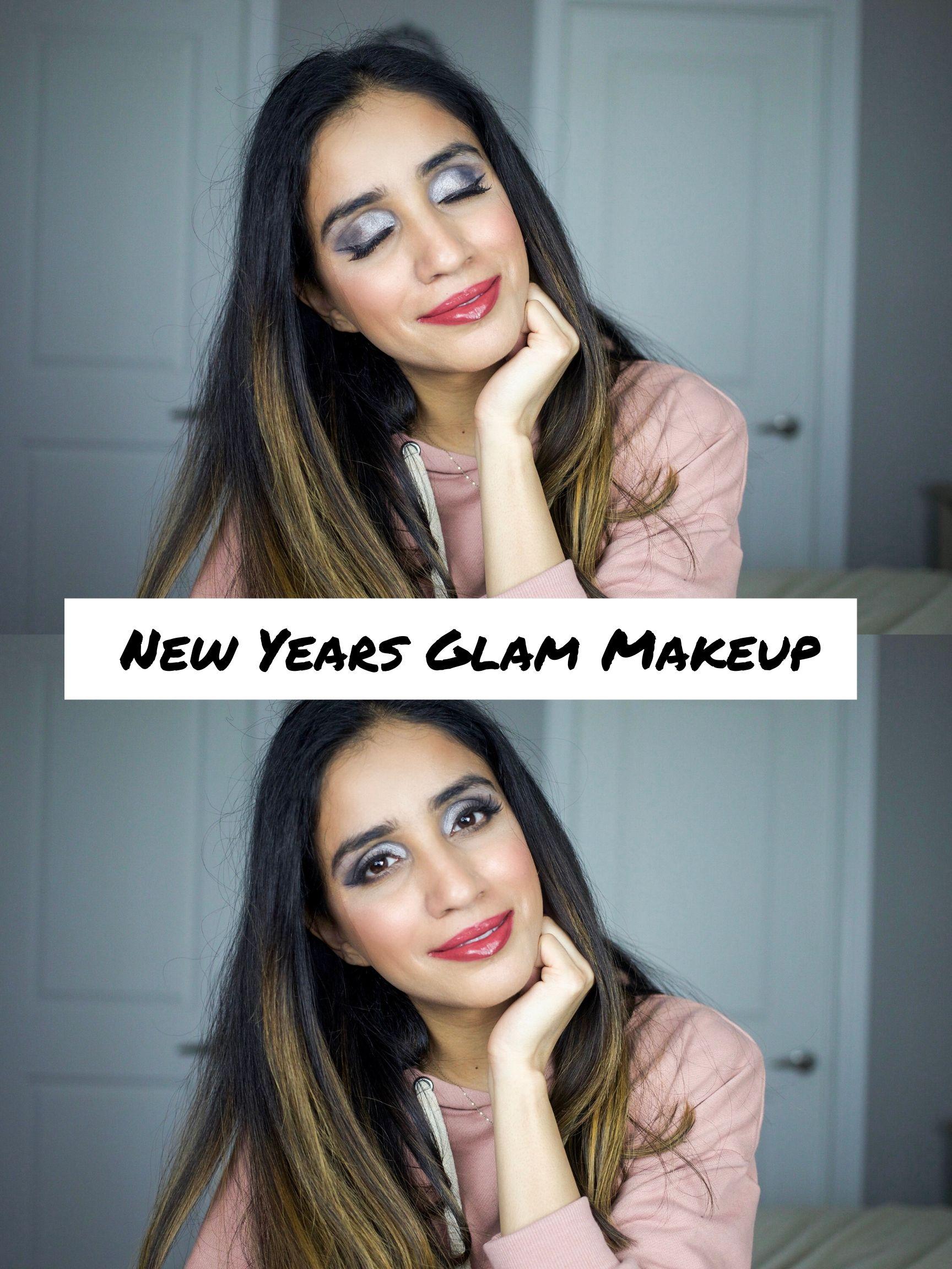 New Years Makeup Glam 1 Eyeshadow Look tutorial Faiza Inam 1