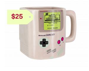 Nintendo gameboy ceramic mug with cookie holderor him holuday gift ideas 2019