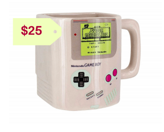 Nintendo gameboy ceramic mug with cookie holderor him holuday gift ideas 2019