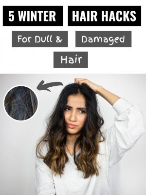 my 5 HAIR HACKS for dull and damaged hair turorial 2020 2019 22