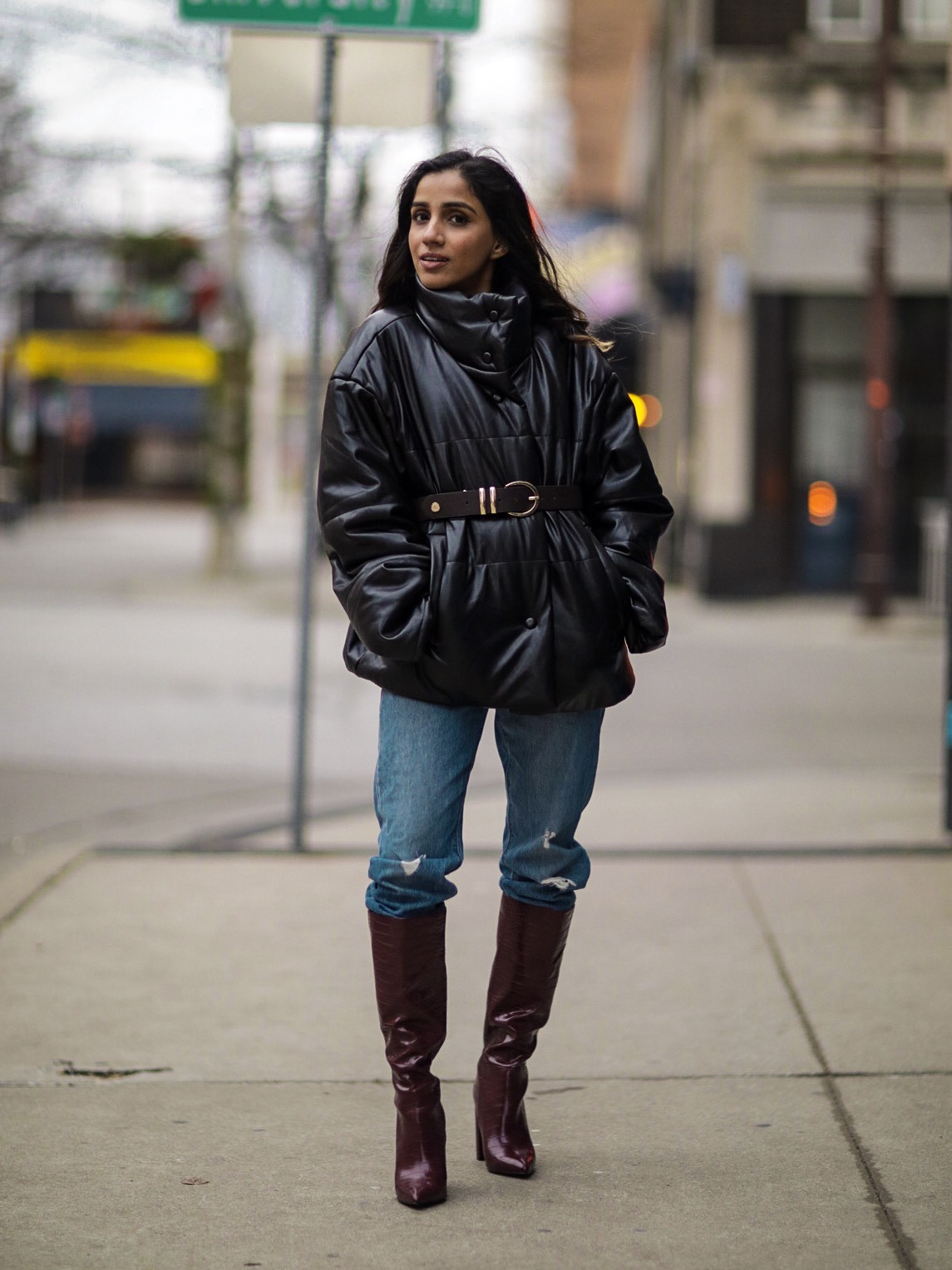 My Top Trending Boots this Winter knee high structured boots 2020 combat boots rain boots trending faiza inam 1