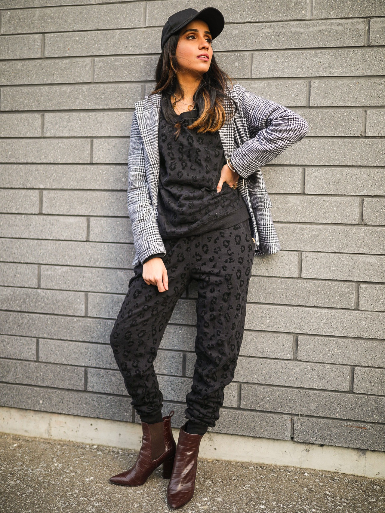 How to Style a Sweat Suit 2020 Edition blazer cap casual outfit faiza inam style fashion 1