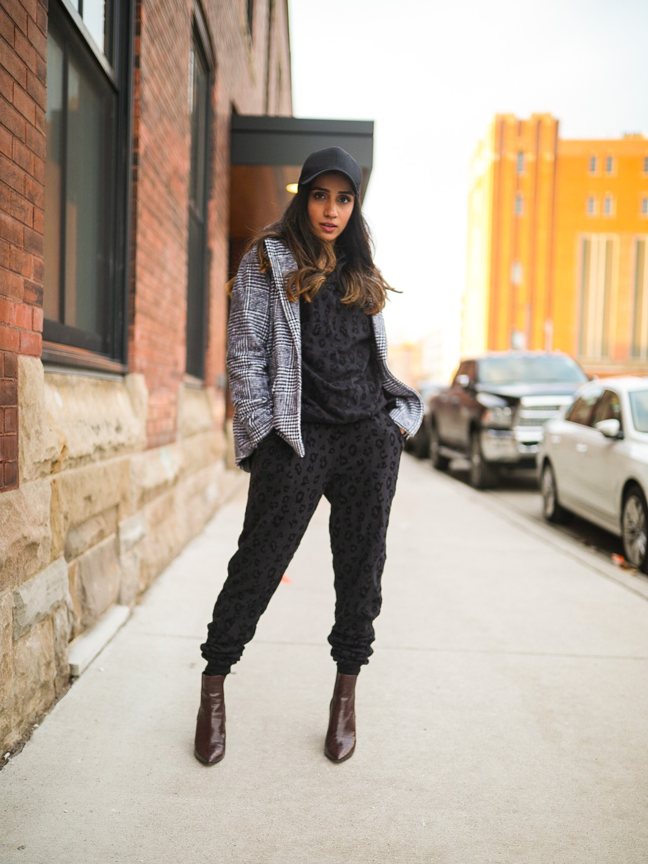 How to Style a Sweat Suit 2020 Edition blazer cap casual outfit faiza inam style fashion 4