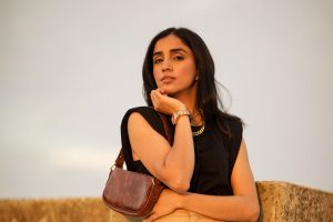 5 Fall Trends to Try Out Under $100 faiza inam high rise wide leg pants sincerely humble blog shoulder pad top 2 copy