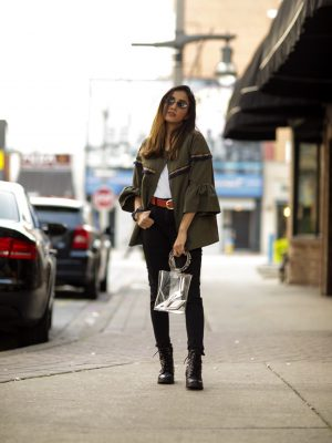 5 Fall Trends to Try Out Under $100 faiza inam pants sincerely humble blog combat boots fall look 1