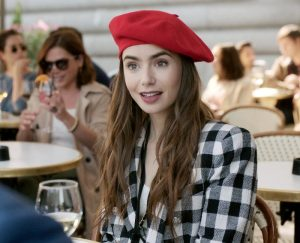 How to Dress like you are Emily in Paris Lily Collins Parisian look how ro dress guide looks blazers dresses tweed plaid 2