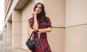 How to Style Fall Dress | Styling 101 Tips faiza inam sincerelyhumble red dress fall dress 1 copy