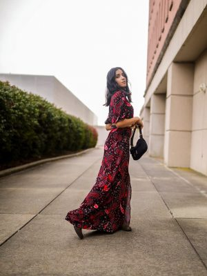 How to Style Fall Dress | Styling 101 Tips faiza inam sincerelyhumble red dress fall dress 2