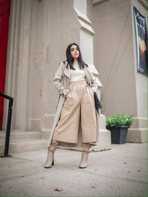 What to Wear at Thanksgiving Family Dinner monochrome outfit faiza inam 1