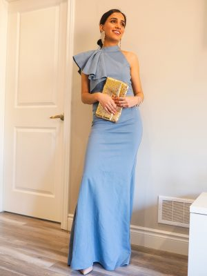 Dress to Kill Looks You Can Wear at New Years' Eve formal wear embelisment blue lulus 1