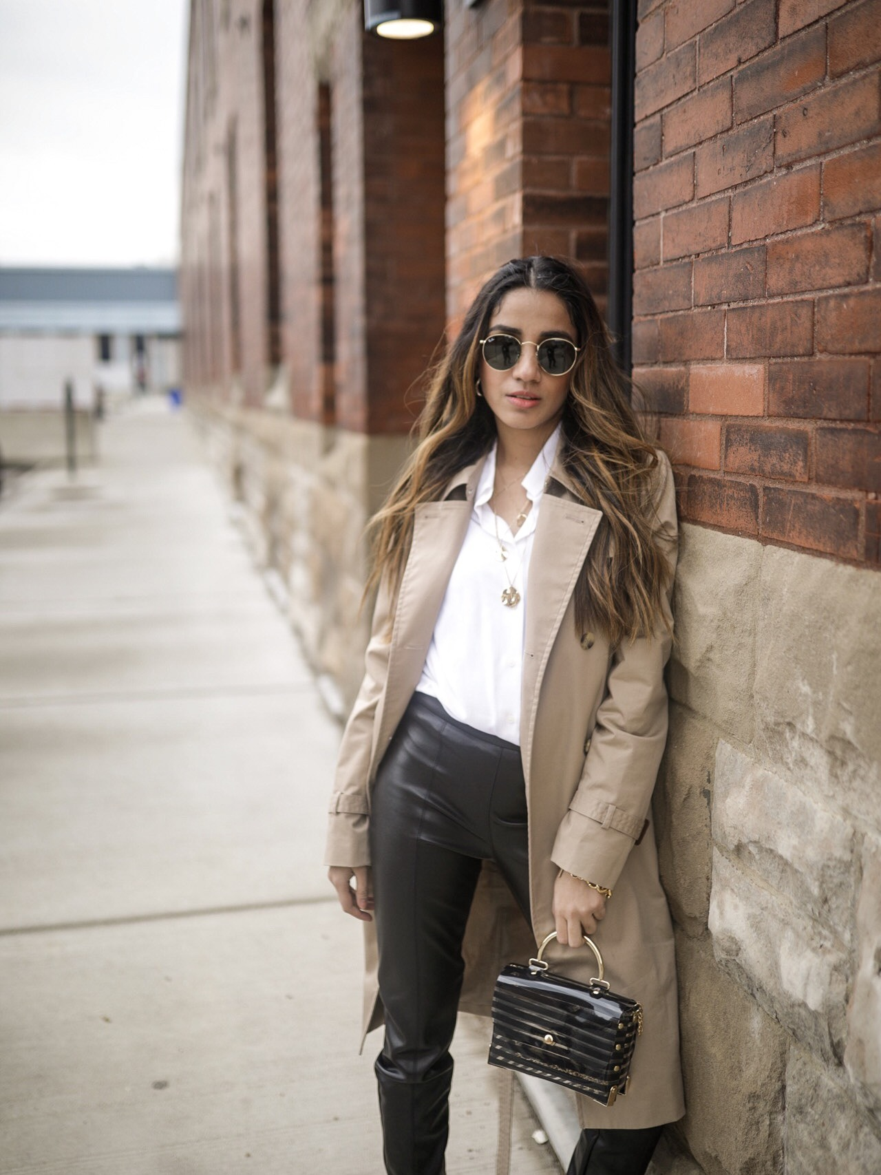 The Trendiest Winter Staples You Didn't Know You Needed Faiza Inam sincerelyhumble wintet cold style staples look leather trend leather pants look faiza 5