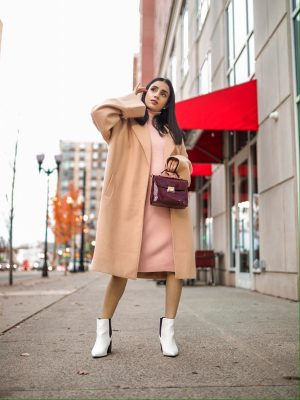 The Trendiest Winter Staples You Didn't Know You Needed Faiza Inam sincerelyhumble wintet cold style staples look sweater dress 4