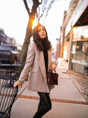 5 Winter Basics Everyone Should Have in Their Closet Faiza Inam cold weater basics must have wool blazer 1