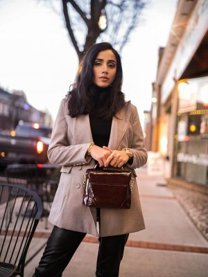 5 Winter Basics Everyone Should Have in Their Closet Faiza Inam cold weater basics must have wool blazer 2